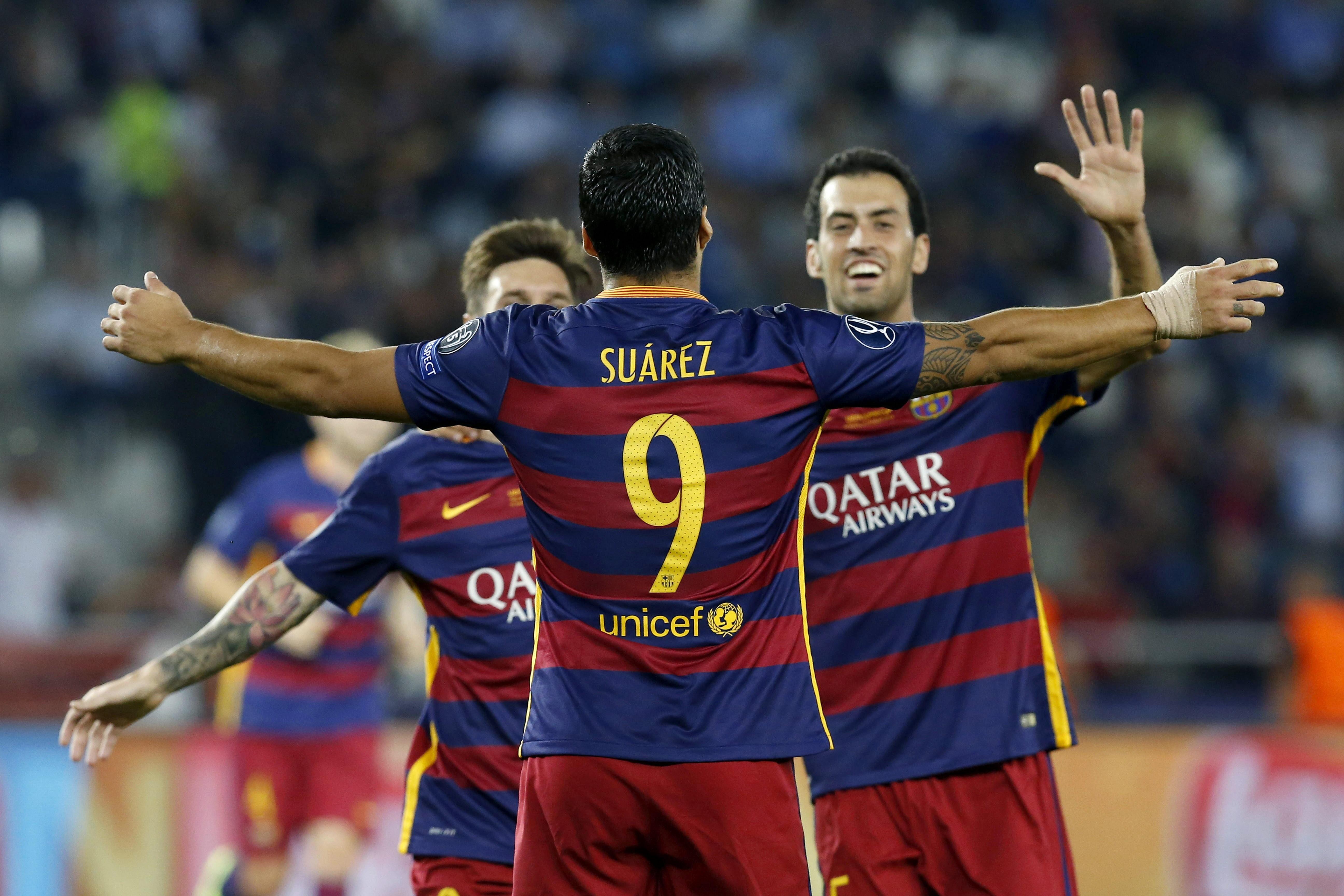 UEFA Avrupa Süper Kupası'nda normal süresi 4-4 biten maçta, Barcelona 115. dakikada bulduğu golle Avrupa Süper Kupası'nda zafere ulaştı.