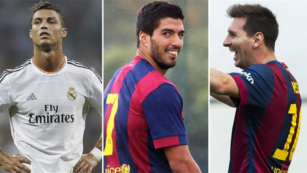 in numbers is luis suarez better than lionel messi and cristiano
