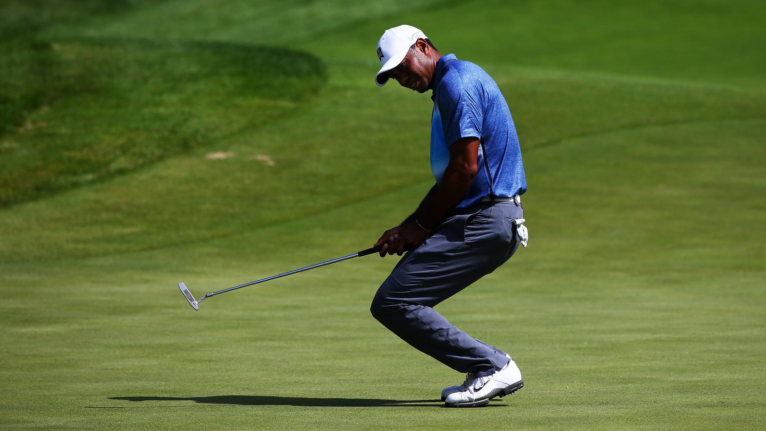 Tiger Woods struggled on the greens.