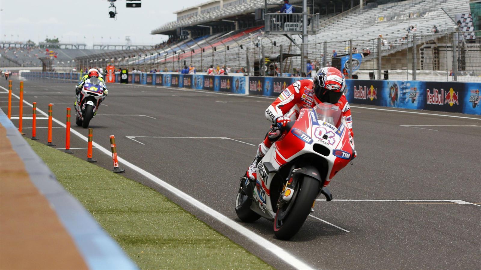 Andrea Dovizioso (Ducati Team) au Grand Prix d'Indianapolis 2015