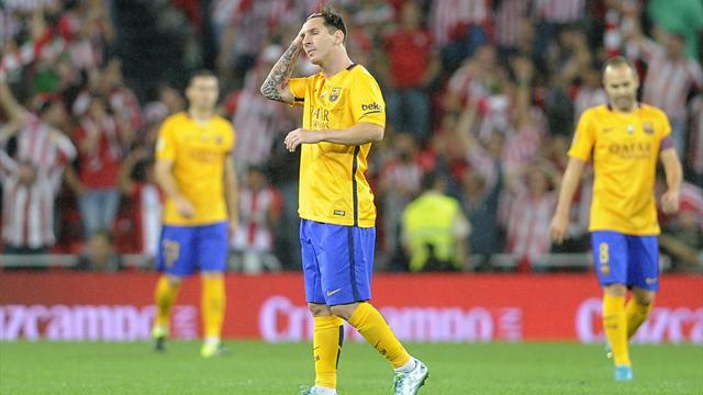 En perdition à Bilbao, le Barça voit le sextuplé s'éloigner