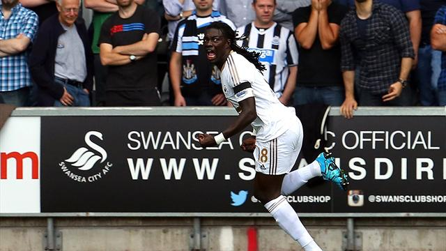 A Swansea, le duo Gomis-Ayew s'occupe de tout