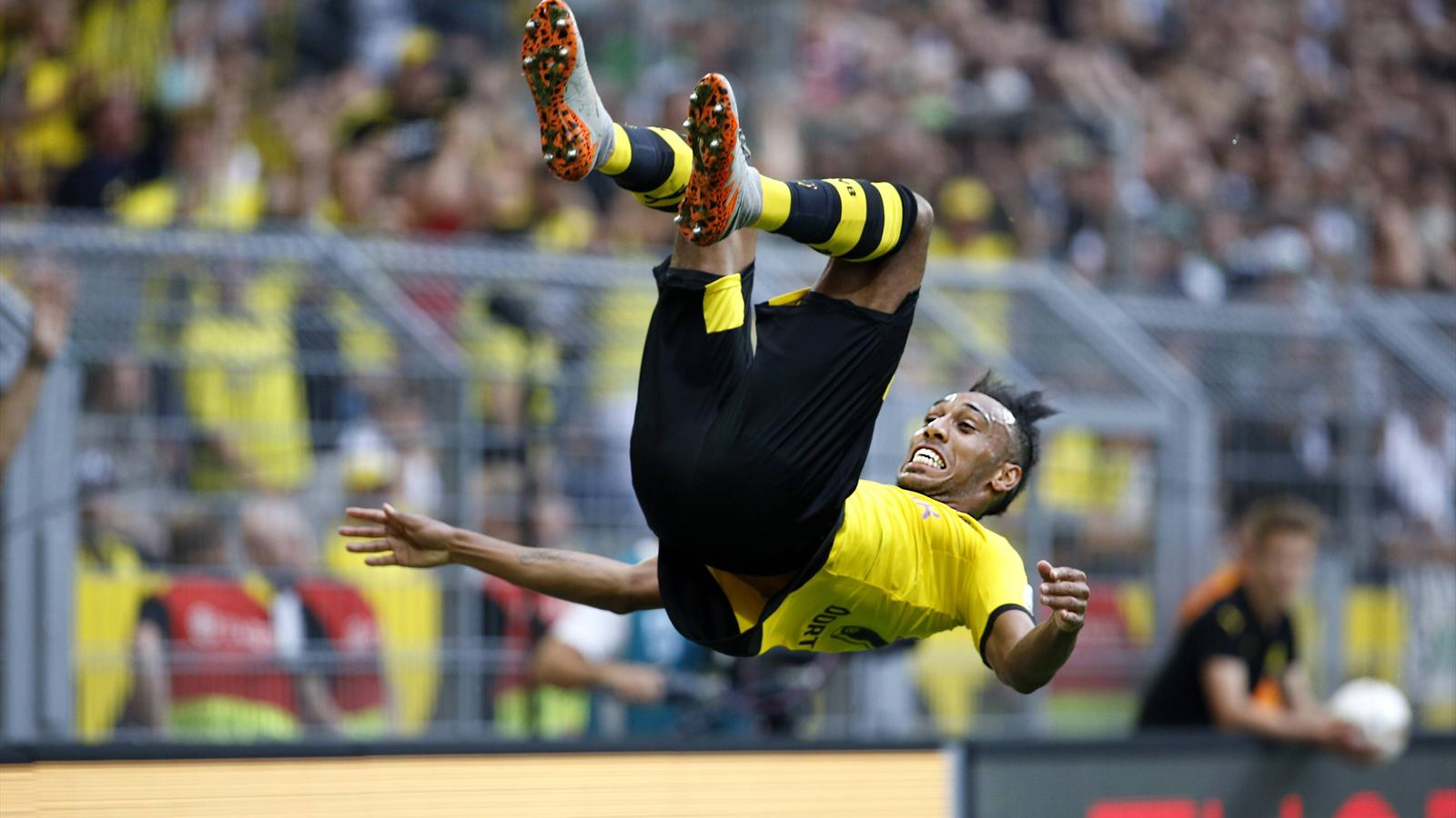 Pierre-Emerick Aubameyang buteur lors de Dortmund-Mönchengladbach