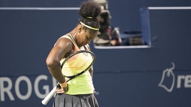 Serena Williams shocked by Belinda Bencic in Toronto