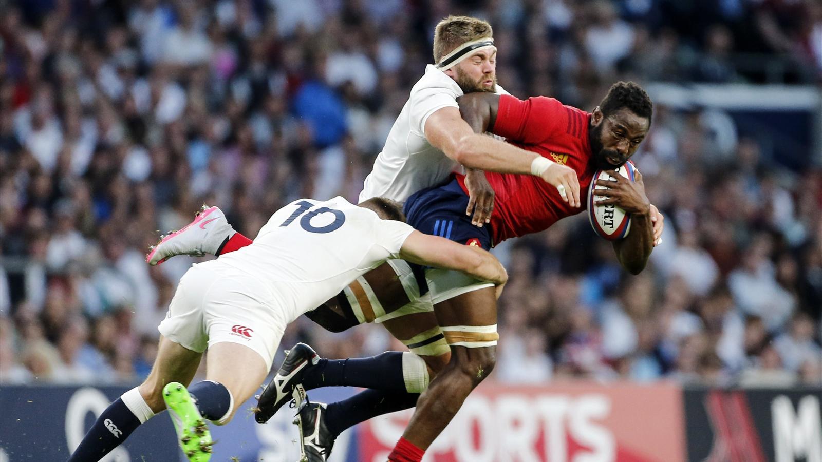 Fulgence Ouedraogo (XV de France) face à l'Angleterre - 15 août 2015