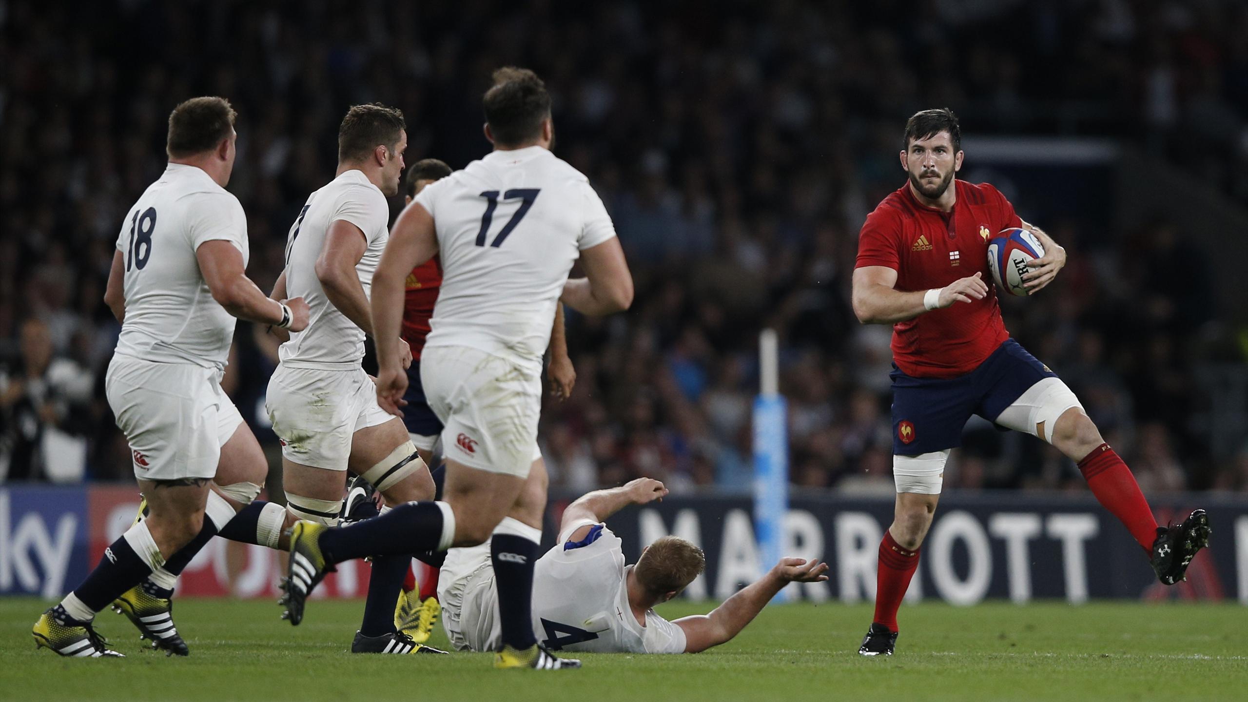 Loann Goujon (XV de France) face à l'Angleterre - 15 août 2015