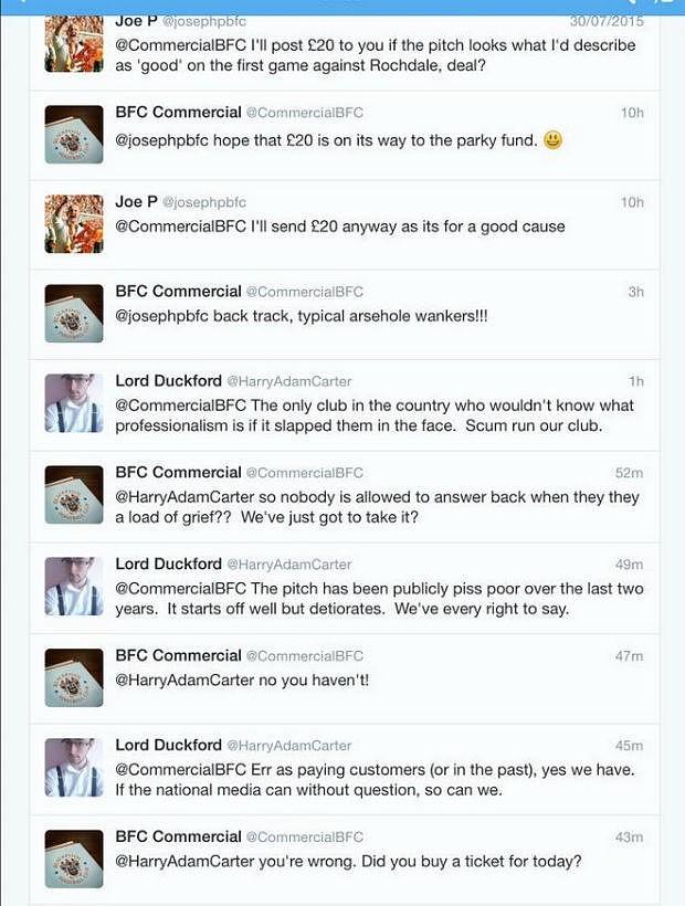 «Блэкпул» удалил один из акаунтов в твиттере после оскорбления в адрес болельщика