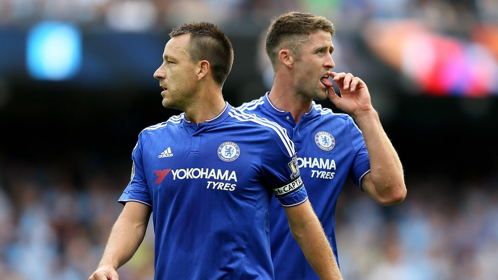 John Terry and Gary Cahill before facing Manchester City