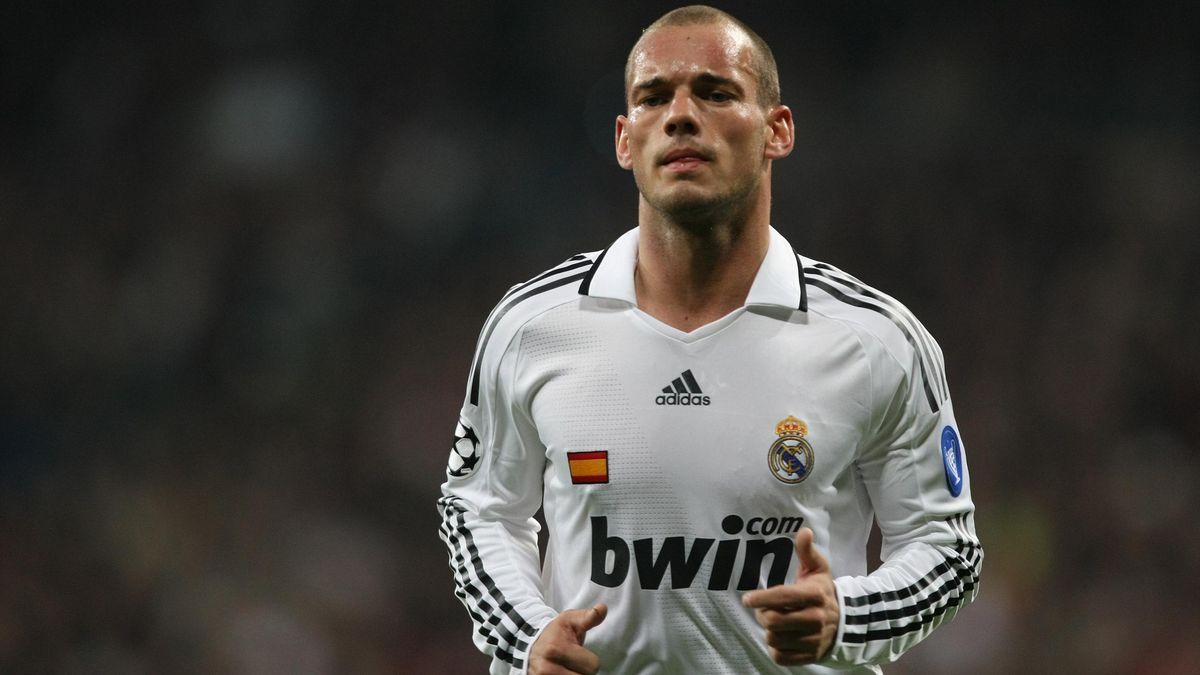 Wesley Sneijder ai tempi della sua militanza al Real Madrid, LaPresse