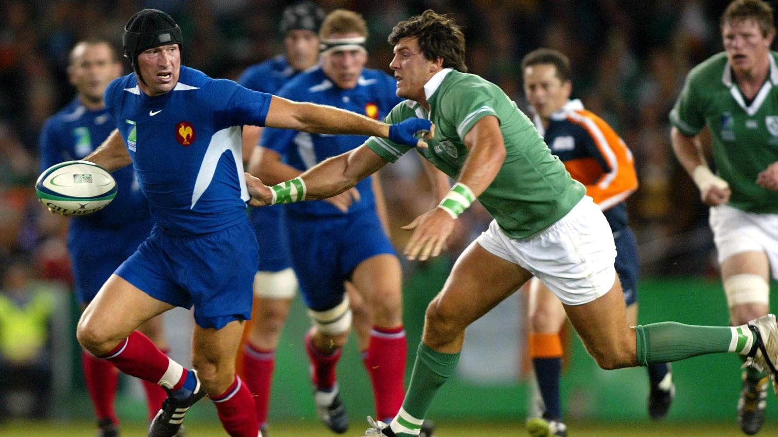 Olivier Magne prend de vitesse la défense et l'équipe de France met le feu au XV irlandais (08.11.2013).