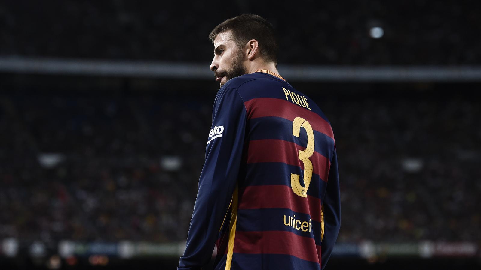 Barcelona's Gerard Pique was sent off against Athletic Bilbao