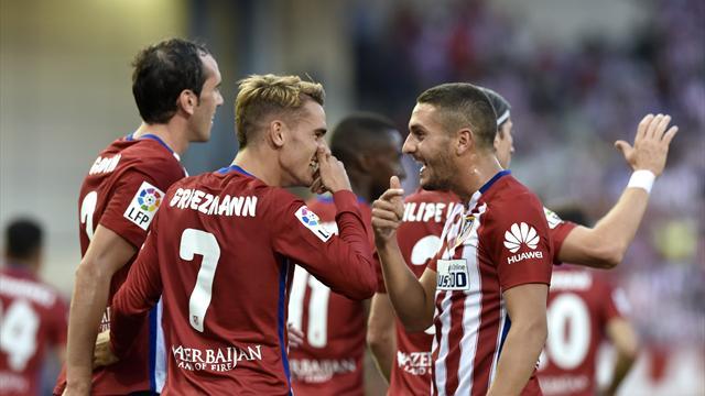 Guidé par Griezmann, l'Atlético débute tranquillement