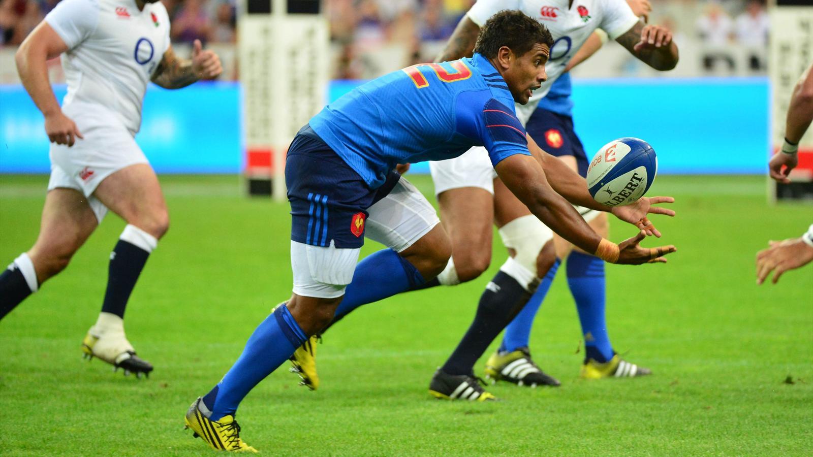Wesley Fofana (XV de France) face à l'Angleterre - 22 août 2015