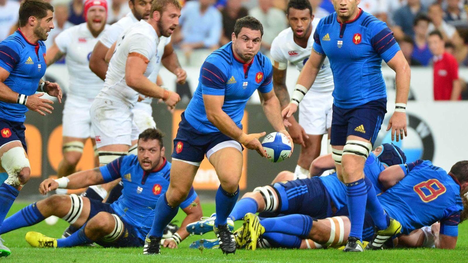 Guilhem Guirado (XV de France) face à l'Angleterre - 22 août 2015