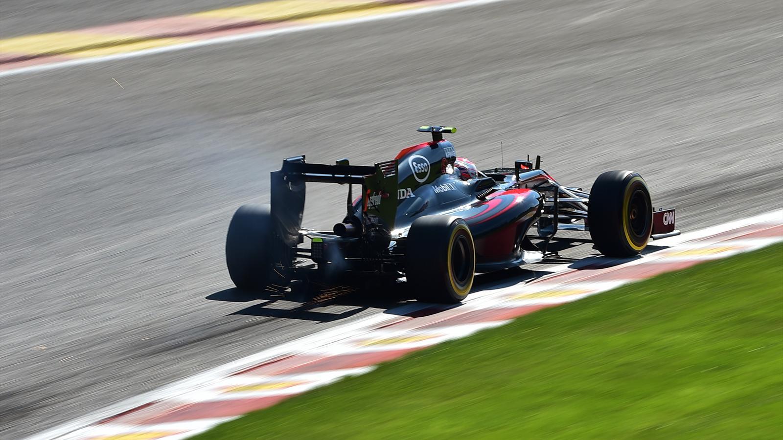 Jenson Button (McLaren), 14e à Spa-Francorchamps - Grand Prix de Belgique 2015