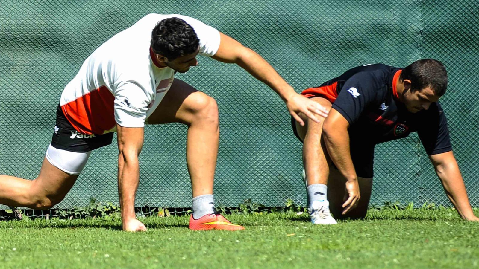 Anthony Etrillard et Charles Ollivon (Toulon) en préparation - 9 juillet 2015