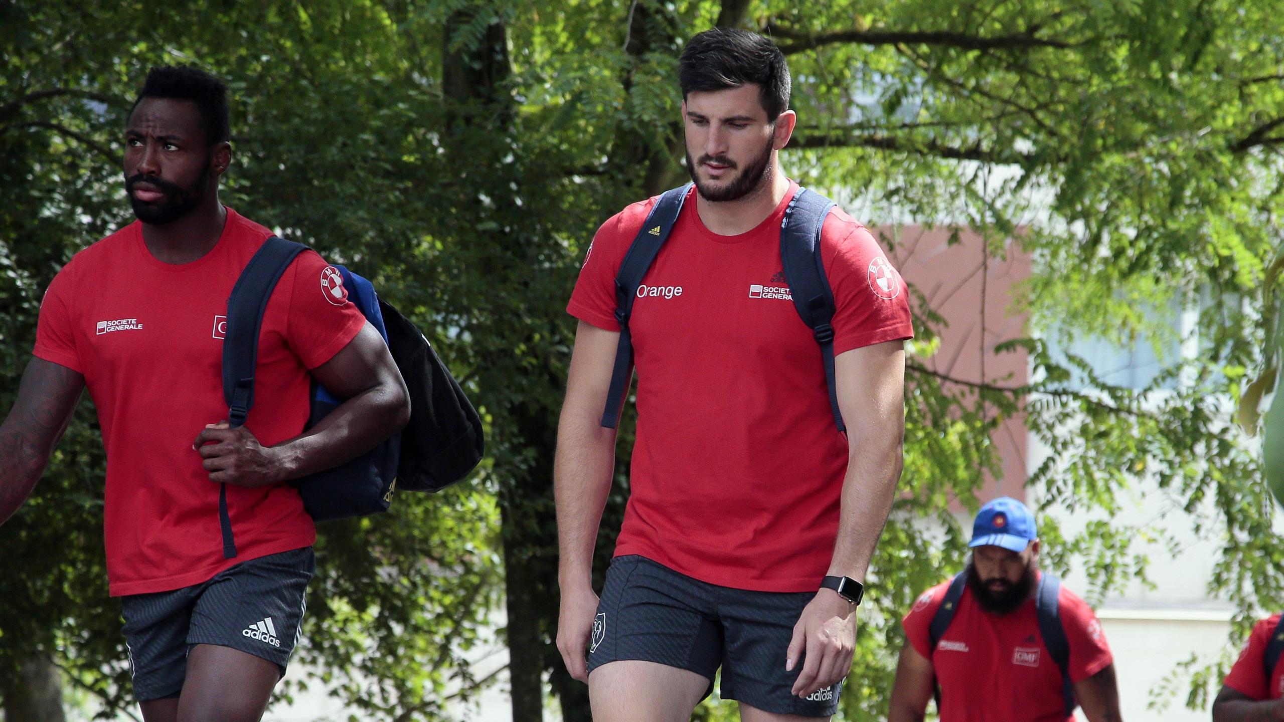 Loann Goujon lors de la préparation du XV de France à Marcoussis - août 2015