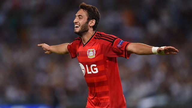 Ist mit seiner Freistoßtechnik eine der stärksten Waffen bei Bayer Leverkusen: Hakan Calhanoglu