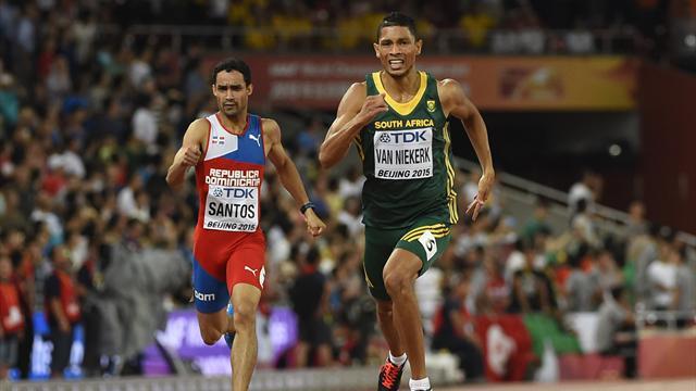 Van Niekerk premier sprinteur sous les 10, 20 et 44 secondes sur 100, 200 et 400 m