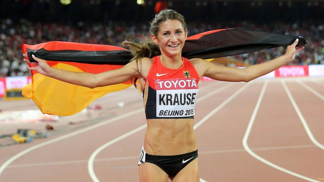 Verkauf Einzelhändler neue Liste großer Rabatt Gesa Krause holt bei der Leichtathletik-WM in Peking Bronze ...
