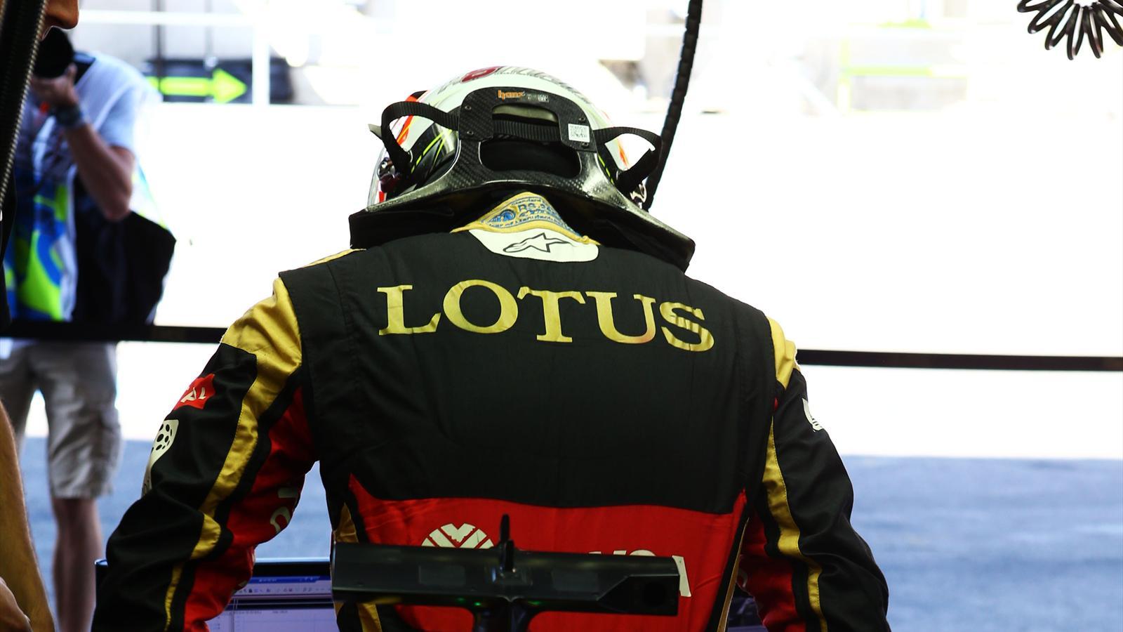 Romain Grosjean (Lotus) au Grand Prix de Belgique 2015