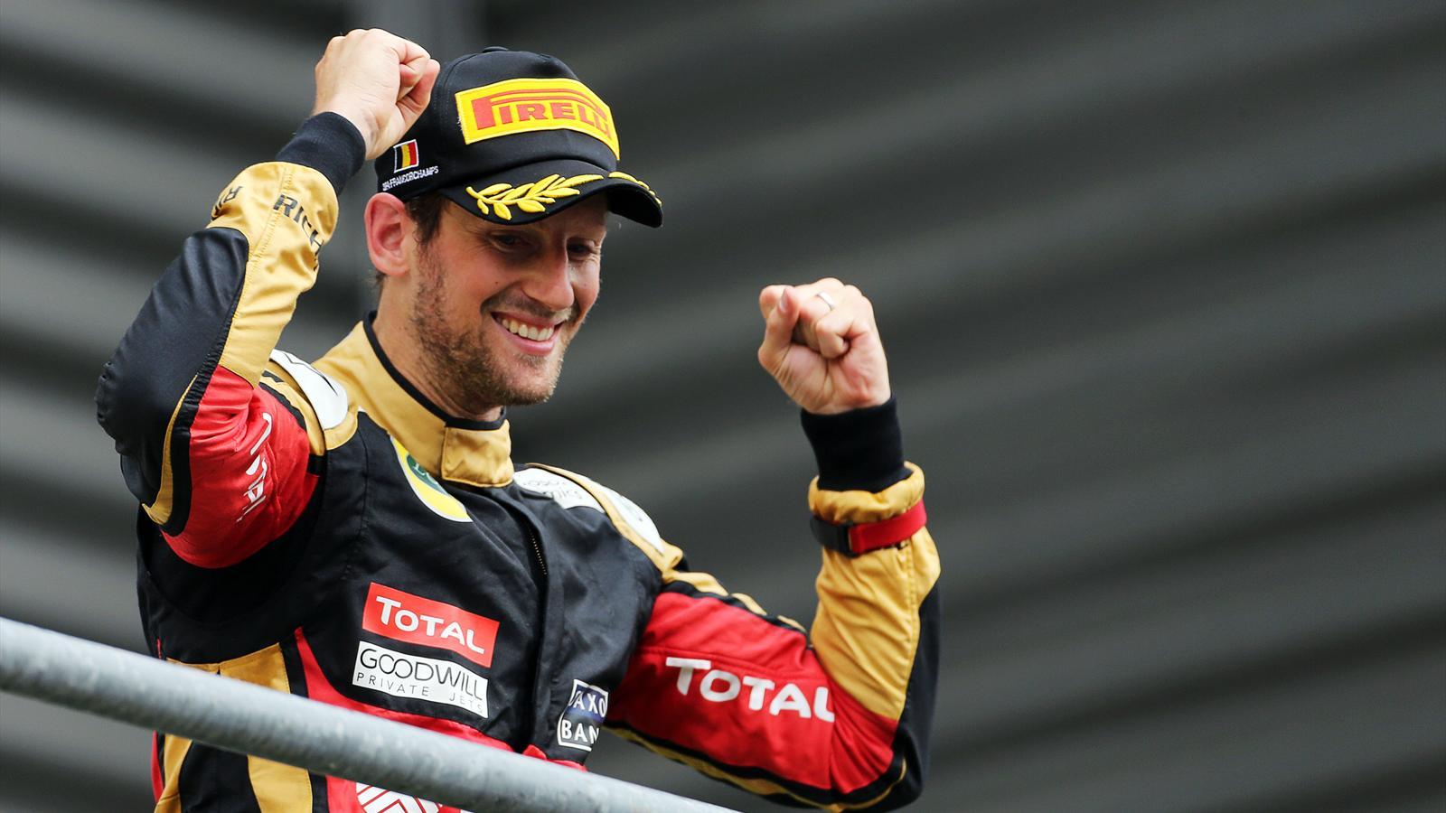 Romain Grosjean (Lotus) - GP of Belgium 2015