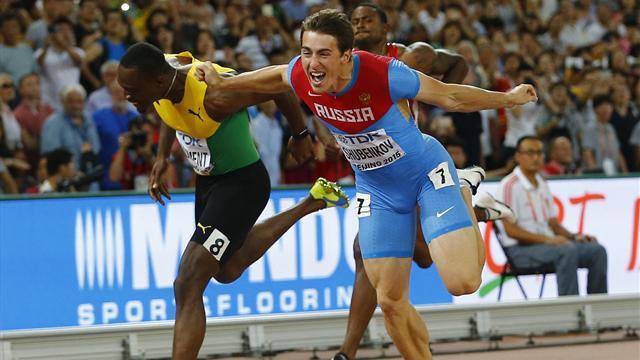 Russian Sergey Shubenkov wins 110m hurdles gold
