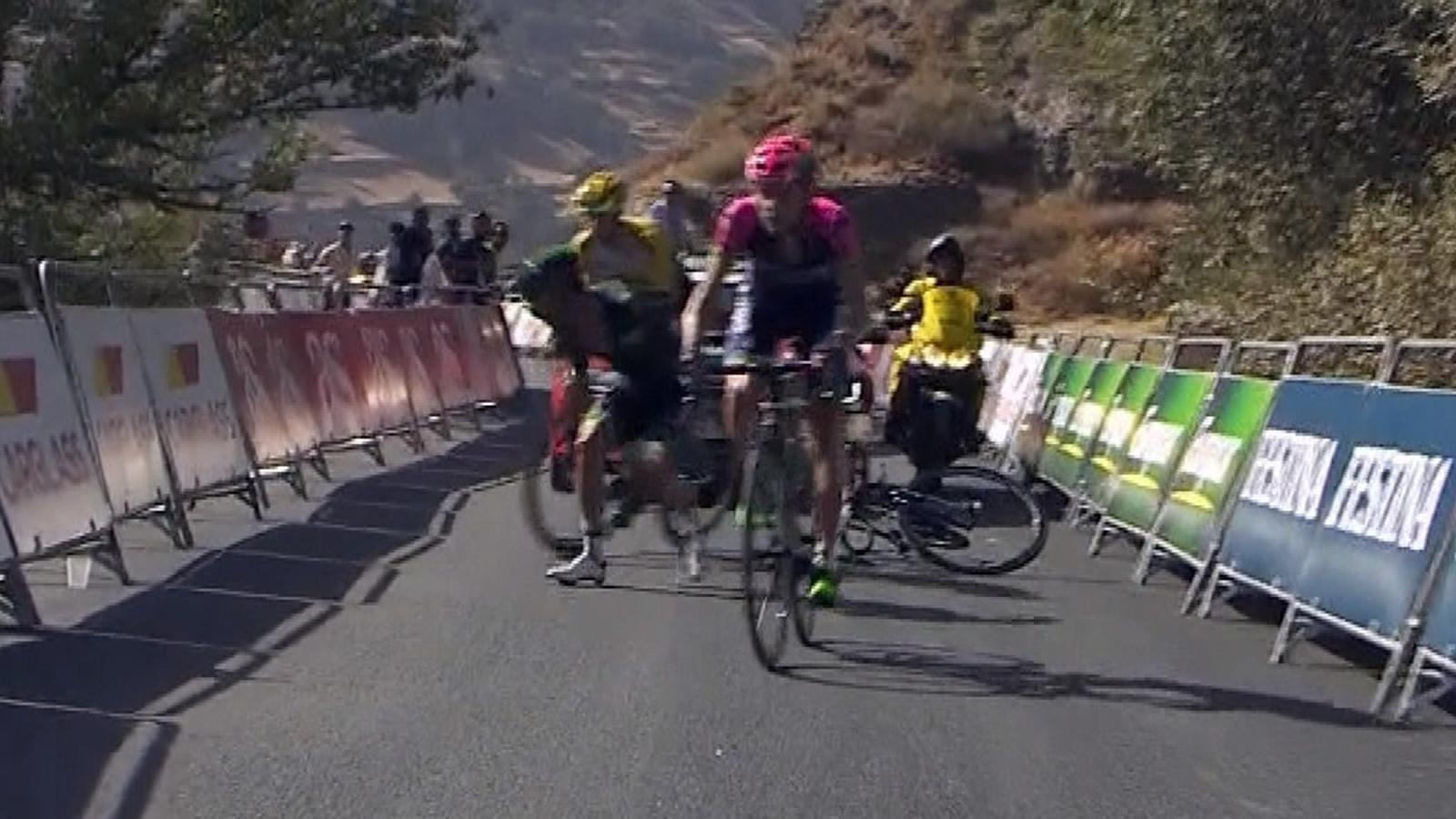 5cadc343131 VIDEO - Les malheurs de Cousin - Le Français Jérôme Cousin (Europcar) a  chuté dans le final de la 7e étape de la Vuelta