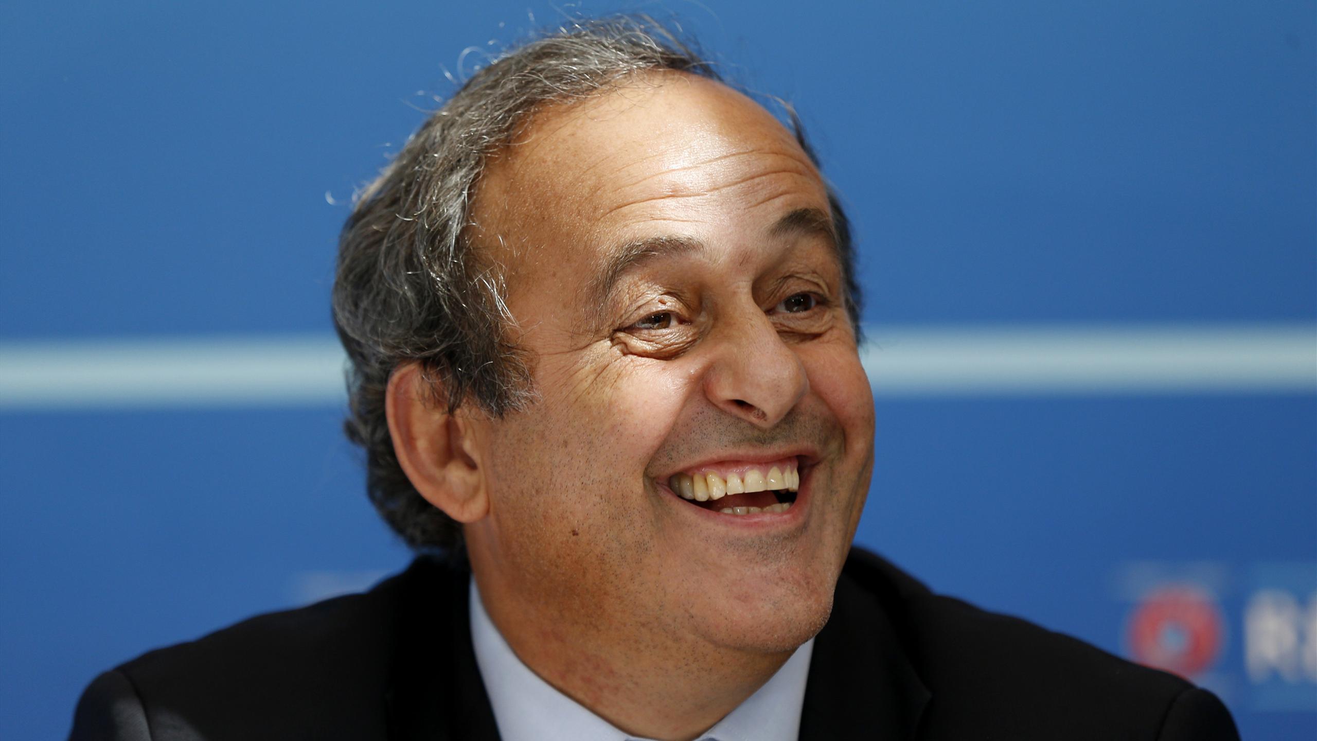 Michel Platini lors de la conférence de presse à Monaco
