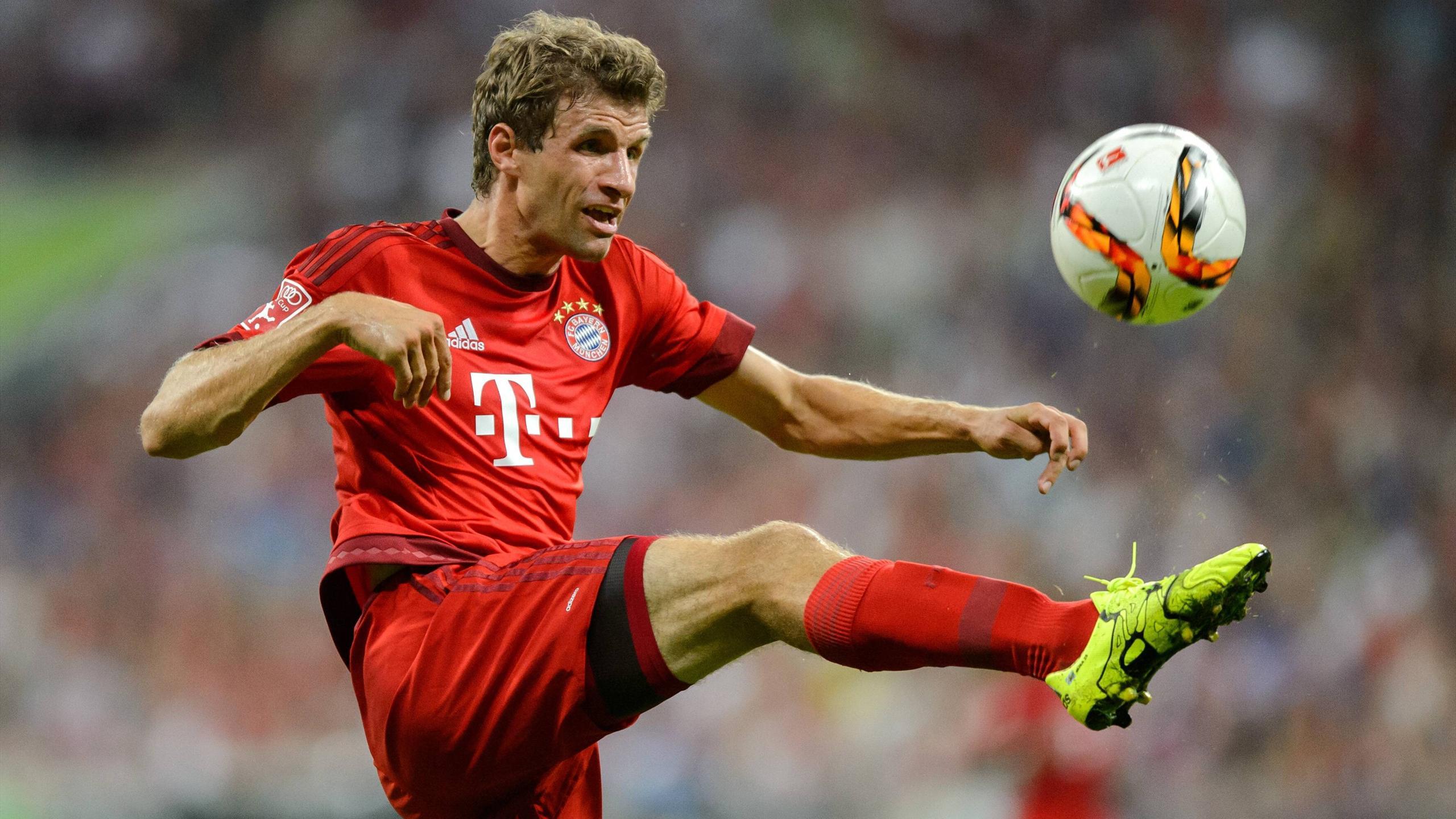Thomas Müller lors de l'Audi Cup 2015 avec le Bayern Munich