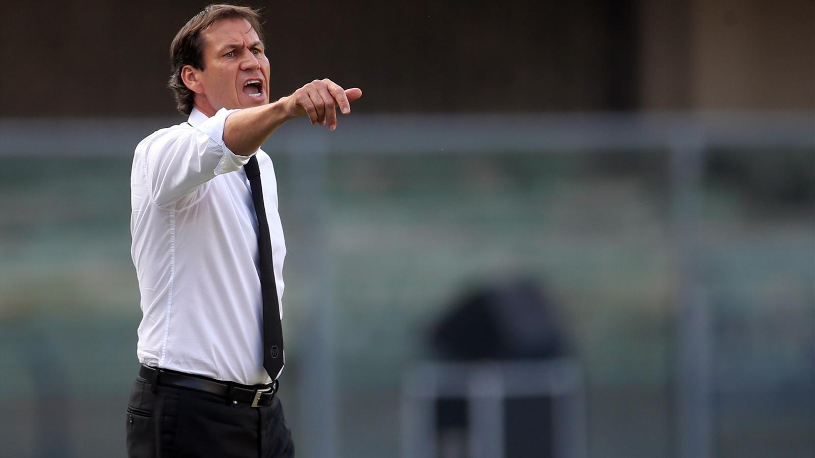 Rudi Garcia sur le banc de la Roma face au Hellas Vérone