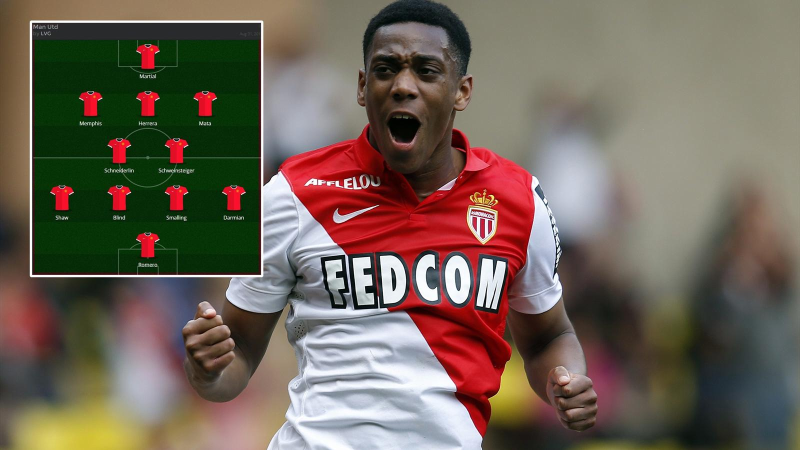 How Could Manchester United Line Up With Anthony Martial