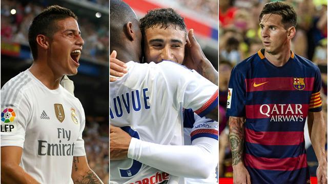 Aux côtés de James et Messi, Fekir s'est fait une place en pointe