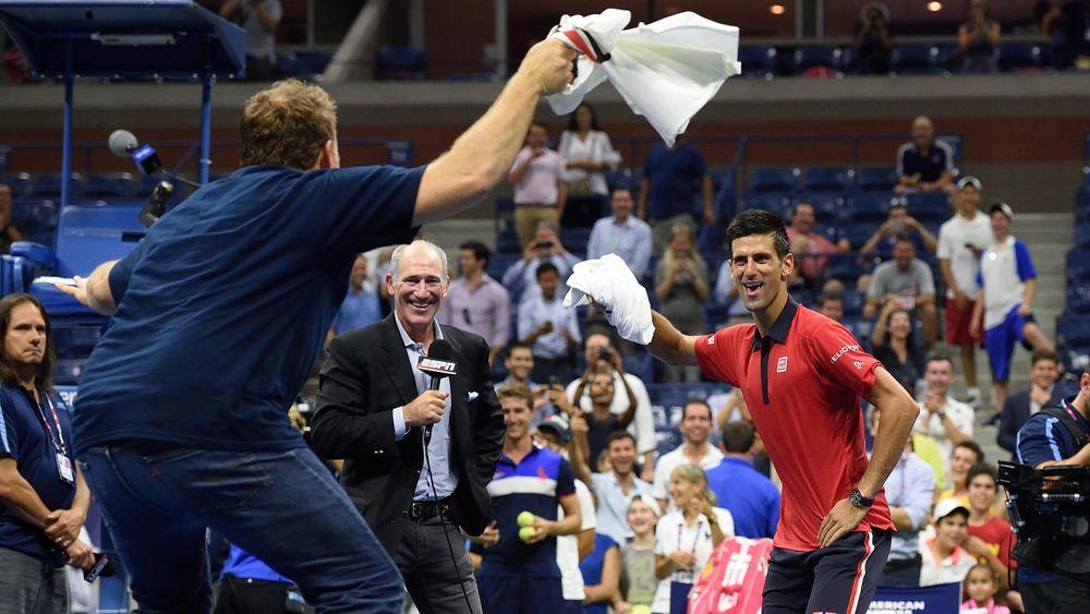 Novak Djokovic dancing