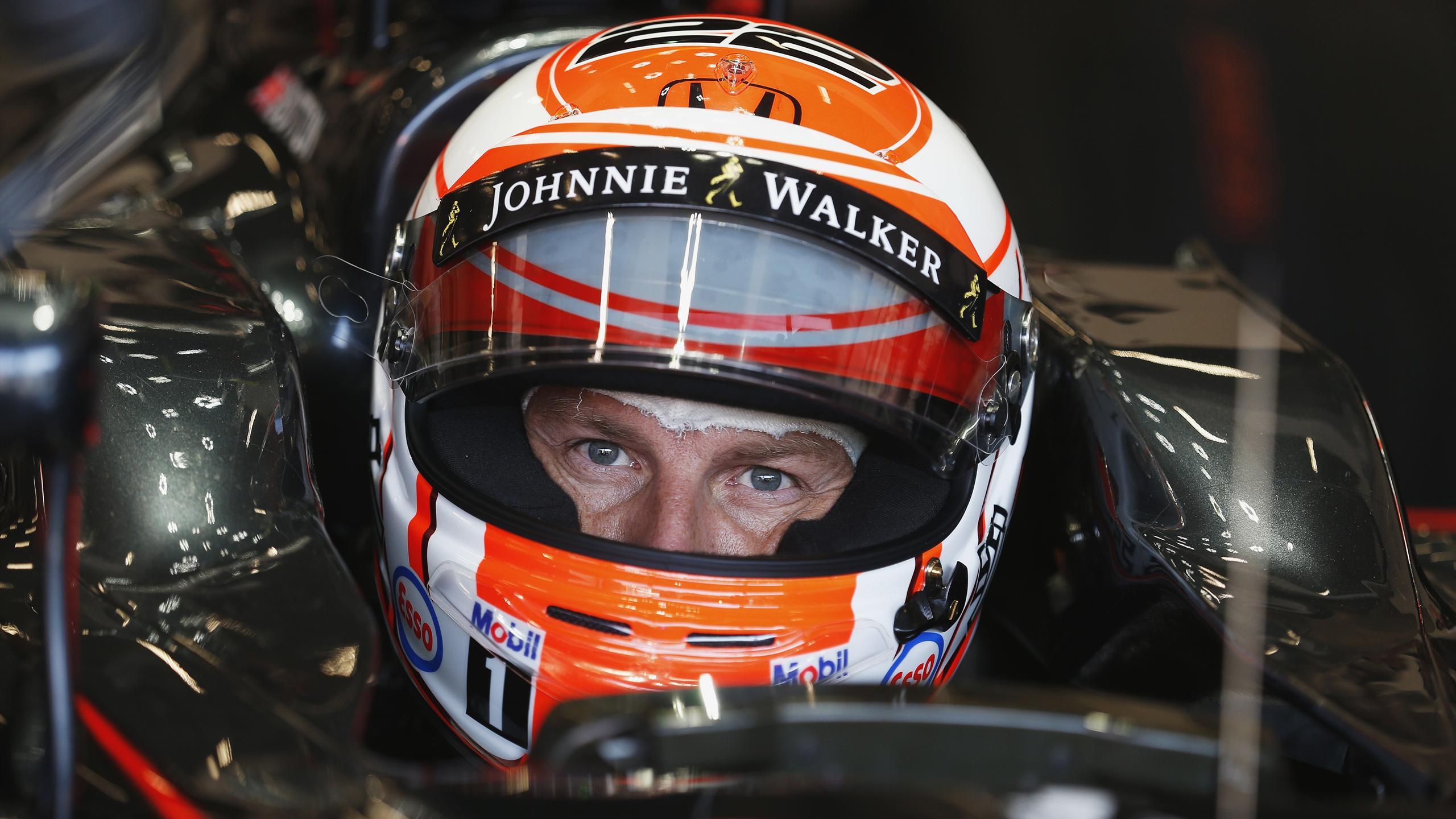 Jenson Button (McLaren) au Grand Prix de Belgique 2015