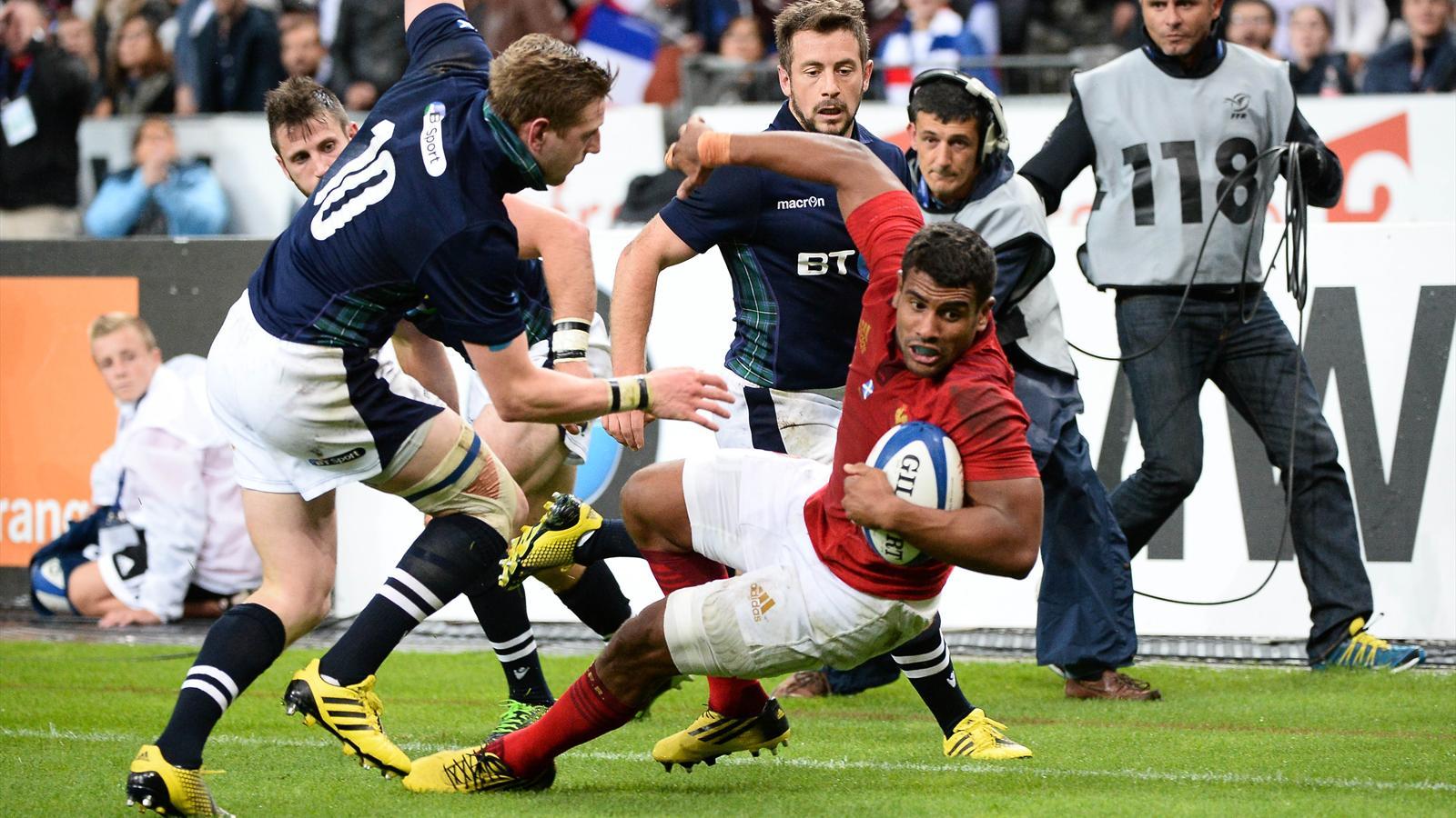 Wesley Fofana (XV de France) face à l'Ecosse - 5 septembre 2015