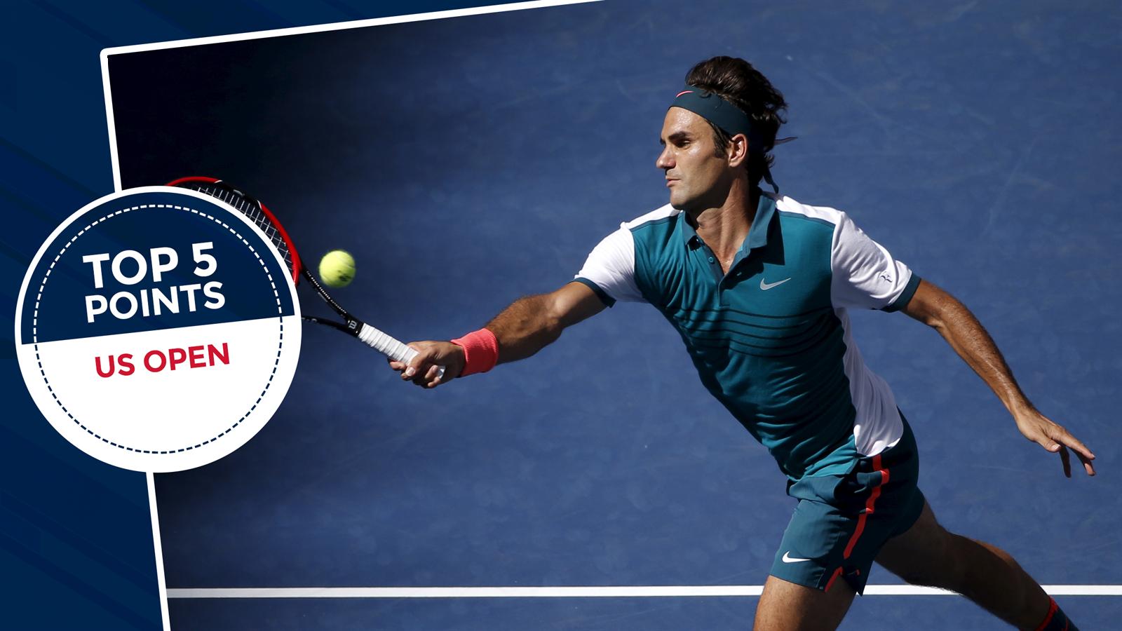Formidable Federer & even Tomic applauds gutsy Gasquet - US Open 2015 - Top 5 points