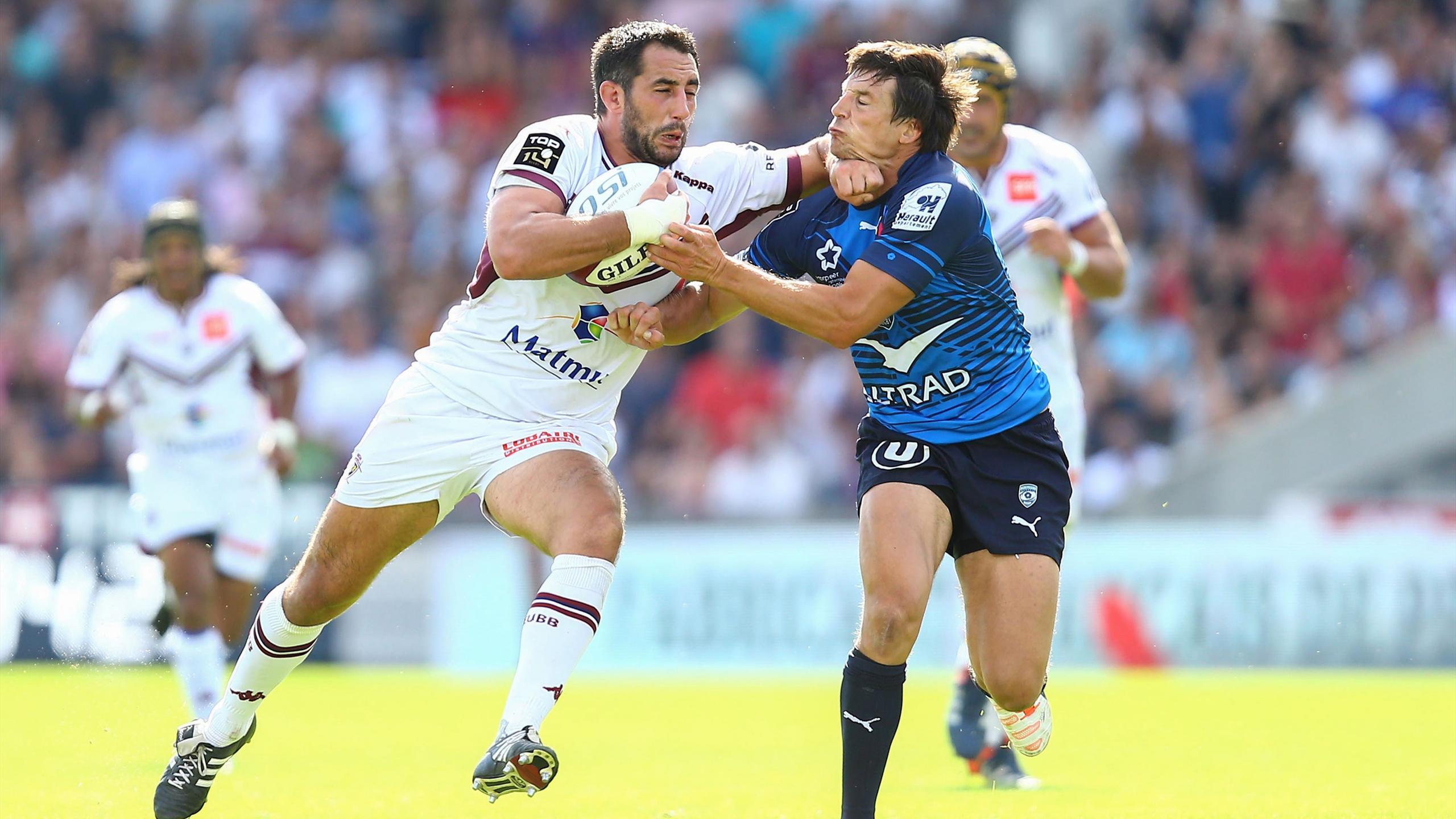 Louis-Benoît Madaule (Bordeaux-Bègles) face au Montpellier de François Trinh-Duc - 6 septembre 2015