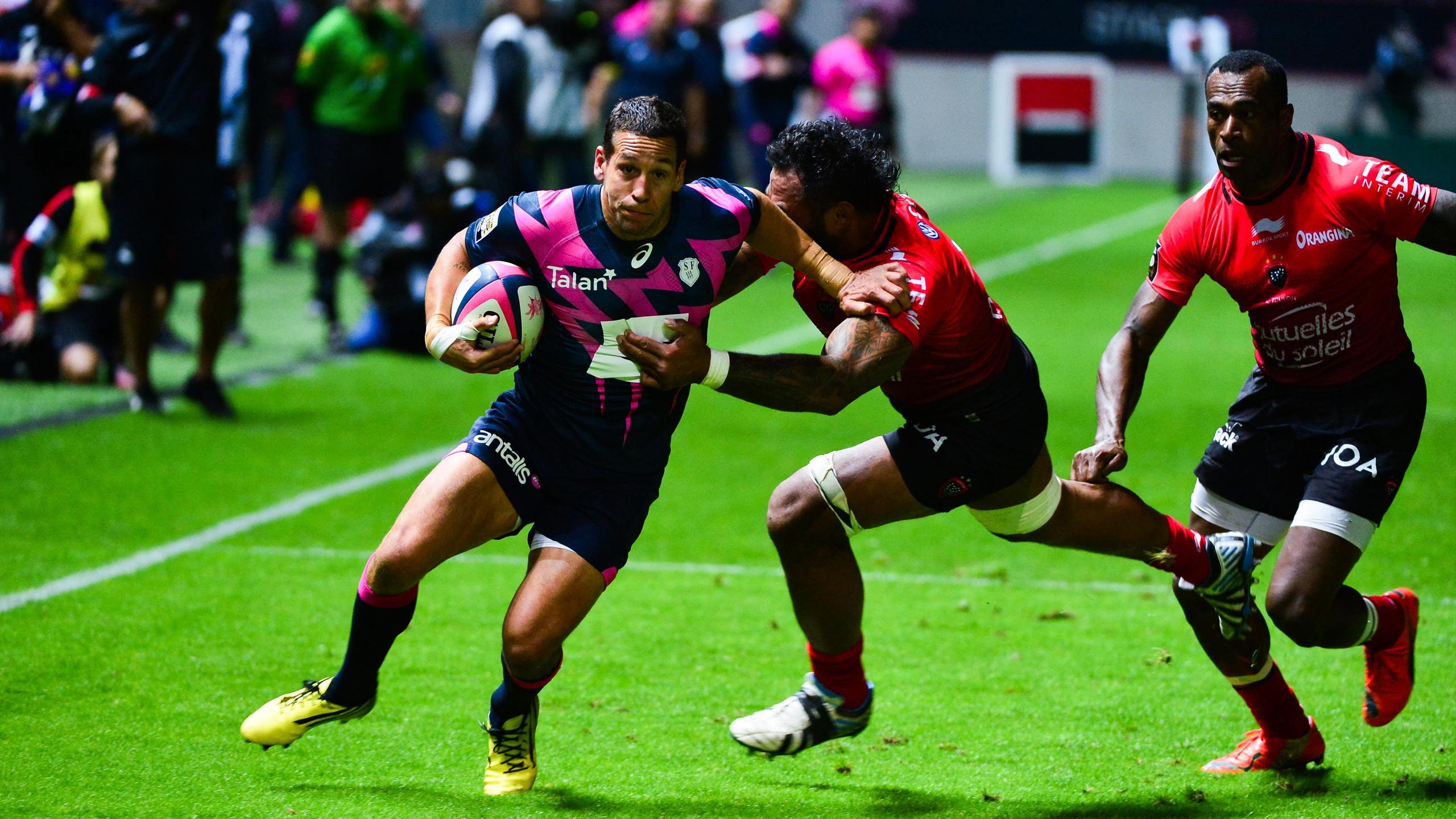 Julien Arias (Stade français) face à Toulon - 6 septembre 2015