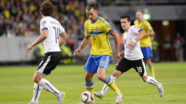 La Suède de Zlatan a pris l'eau, l'Autriche tient son billet