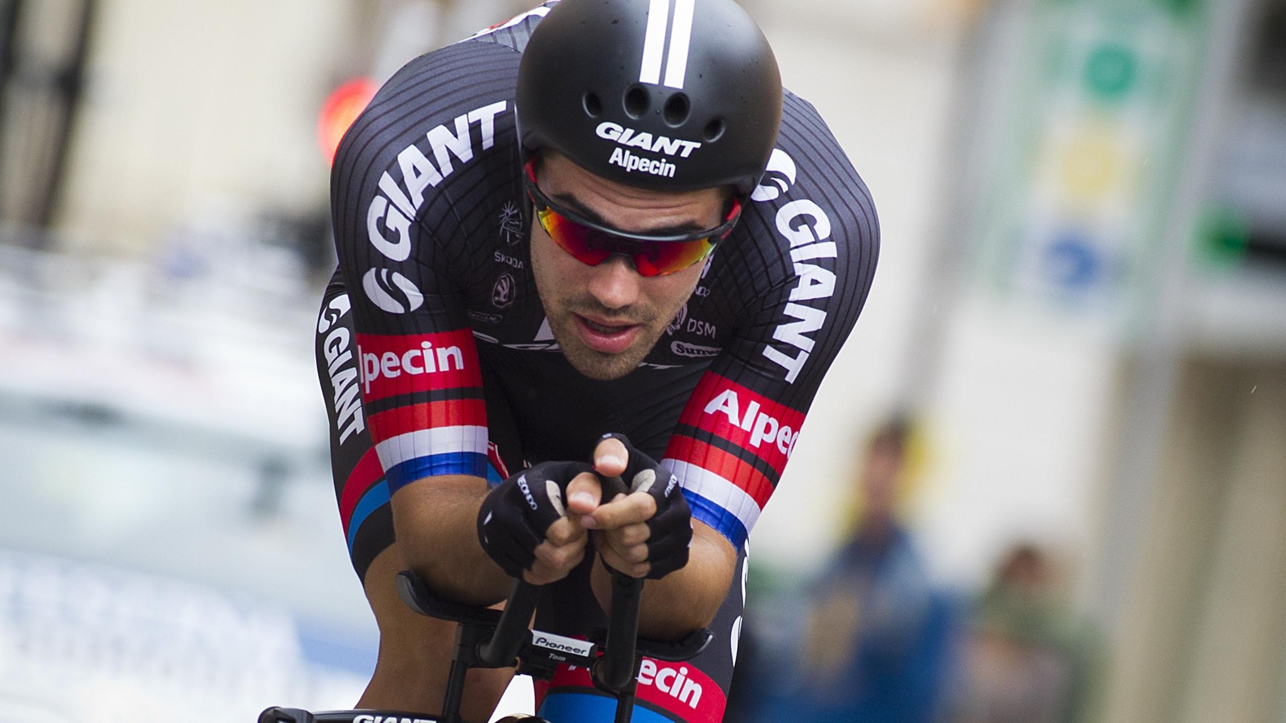 Tom Dumoulin lors de la 17e étape du Tour d'Espagne 2015