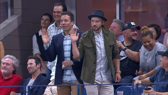 Quand Justin Timberlake danse en plein Federer-Gasquet