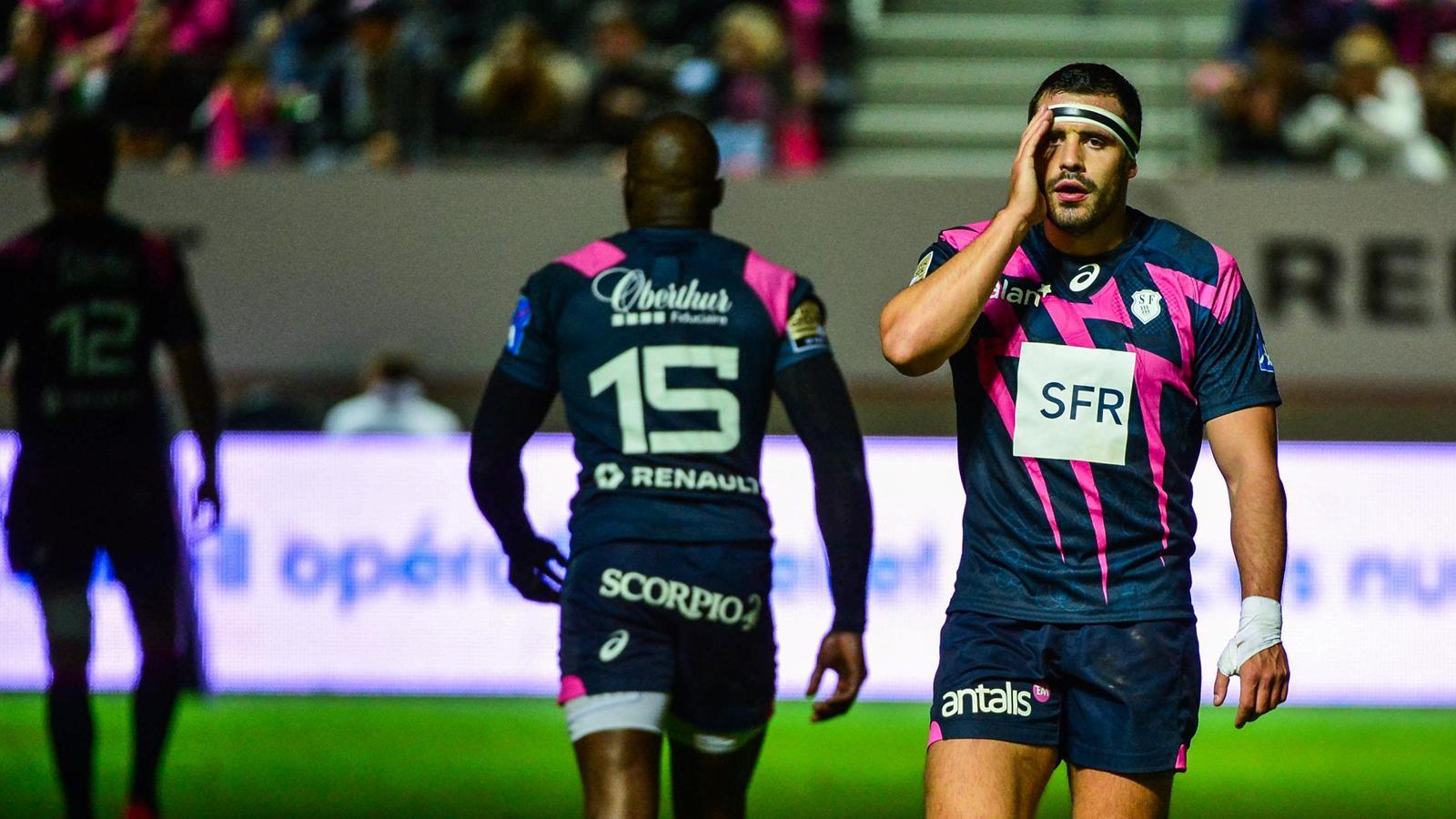 Geoffrey Doumayrou (Stade français) face à Toulon - le 6 septembre 2015