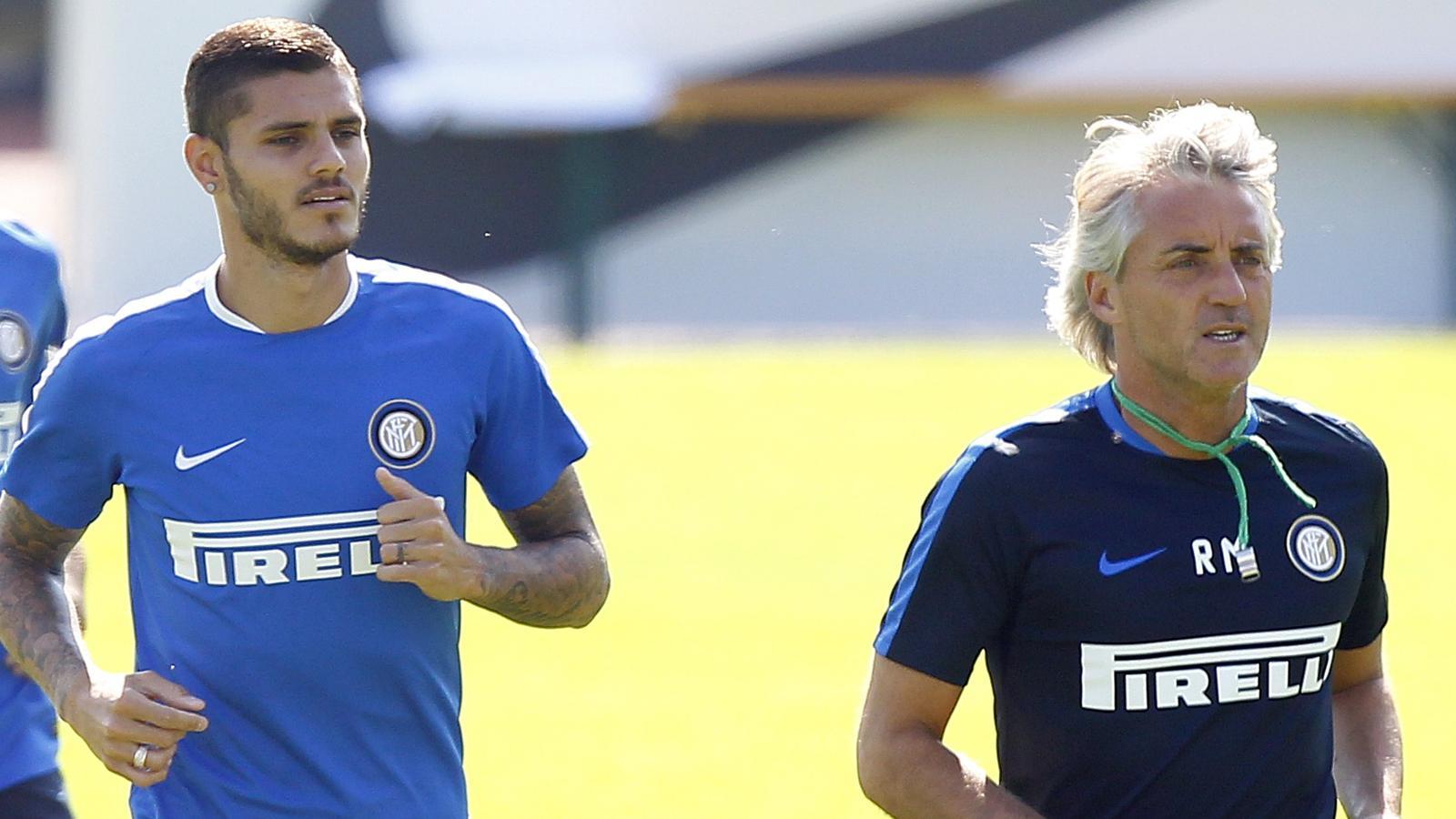 """Mancini fa l'evasivo su mercato e Icardi: """"Mauro si allena bene, il resto non mi riguarda"""""""