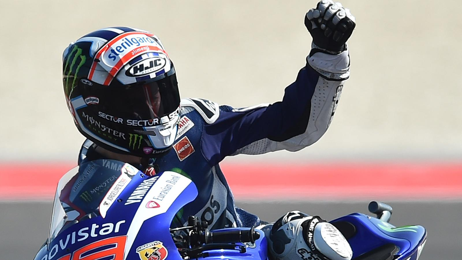 jorge lorenzo yamaha champion du monde de motogp grand prix de valence 2015 moto eurosport. Black Bedroom Furniture Sets. Home Design Ideas