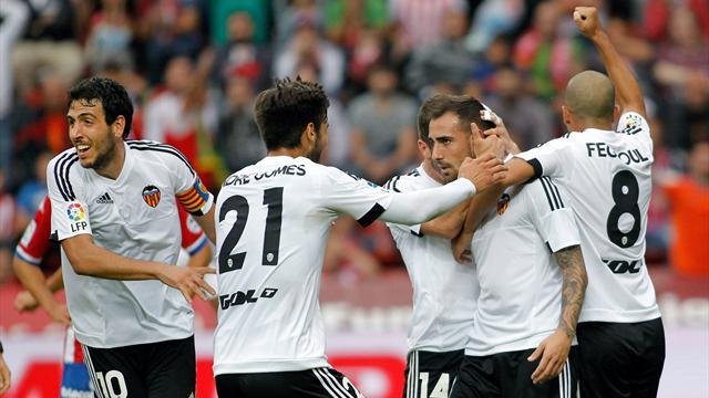 Sporting-Valencia: Alcácer rompe el muro de Gijón (0-1)