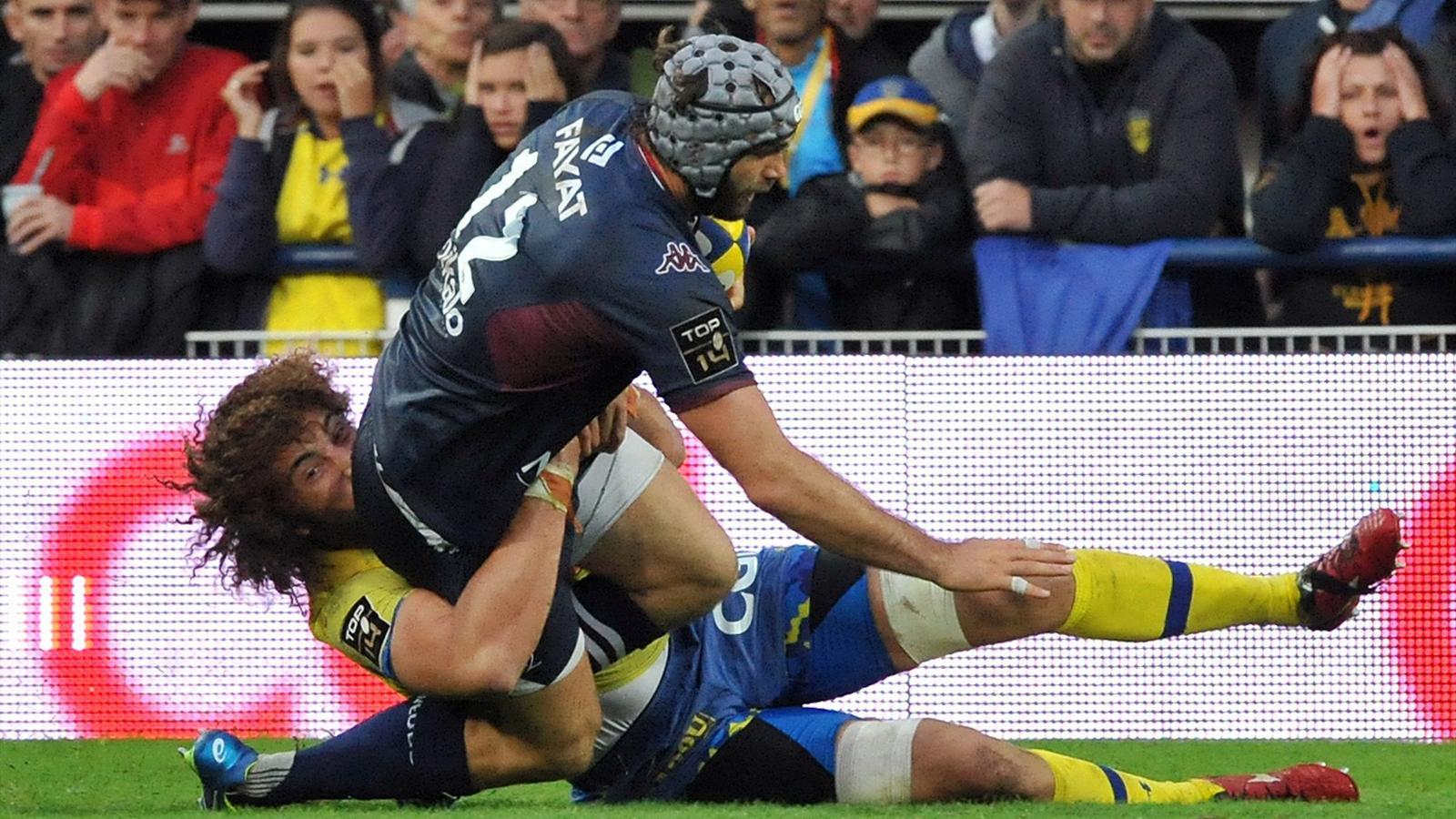 Julien Rey (Bordeaux-Bègles) face à Clermont - 12 septembre 2015