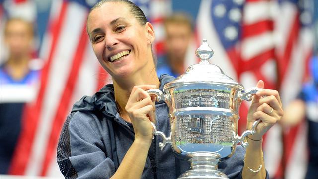 Pennetta wins US Open title, retires from tennis