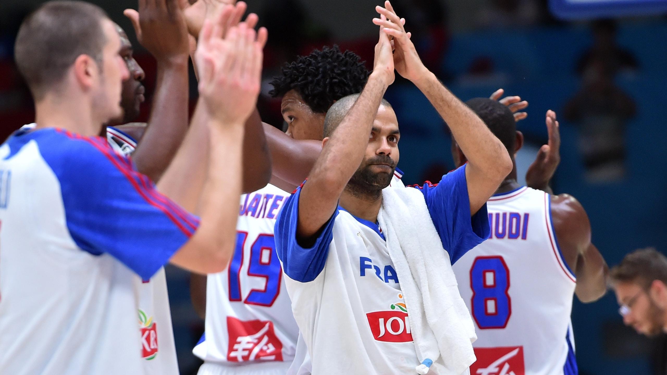 Tony Parker après la victoire de la France contre la Turquie à l'Eurobasket 2015