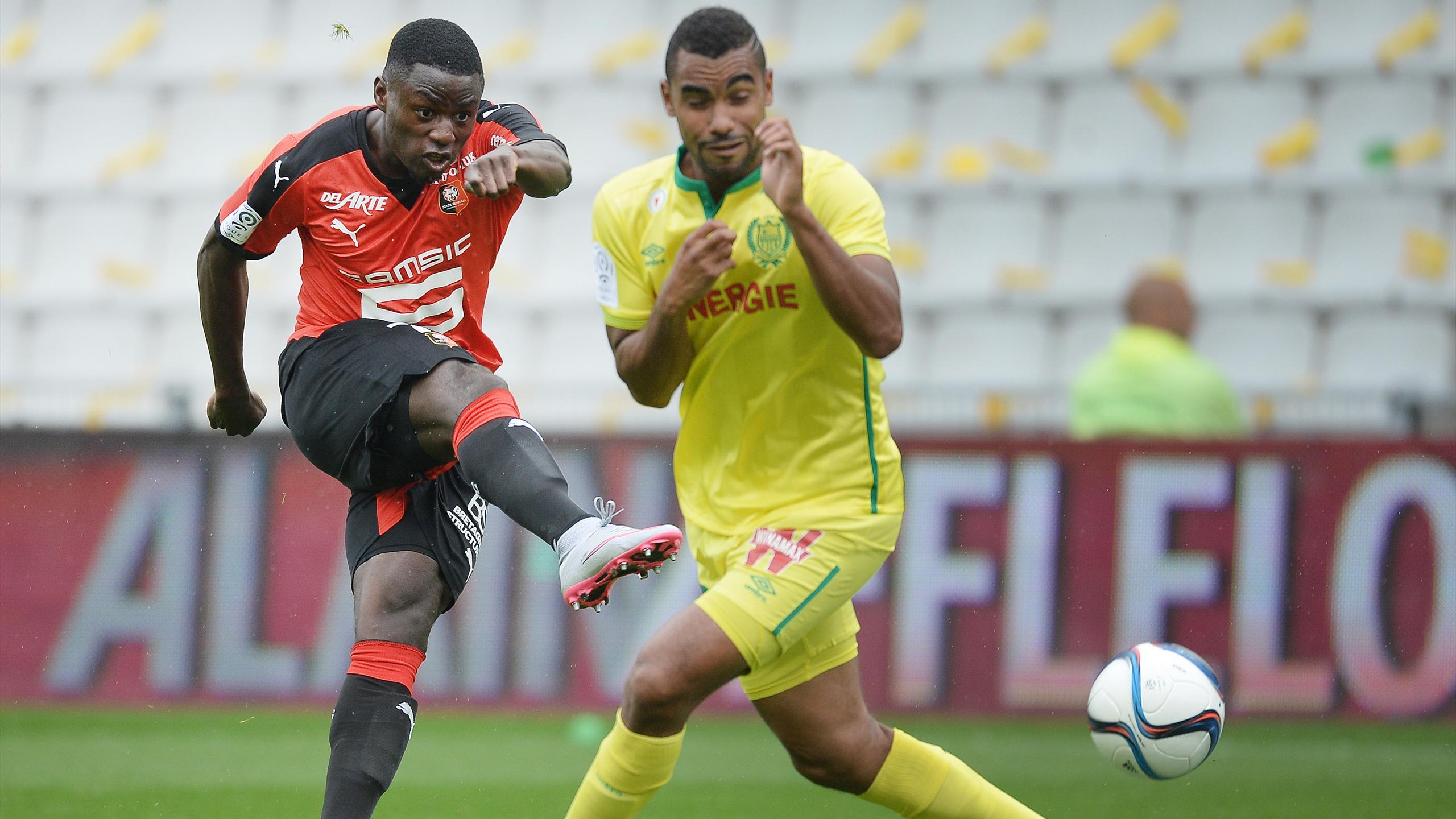 Paul-Georges Ntep pendant Nantes-Rennes (saison 2015-2016)